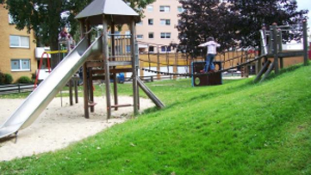 Blick auf den Spielplatz Grabenstraße in Bremerhaven
