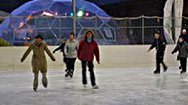 Eishalle im Snowtropolis in Hörlitz, © snow+active GmbH