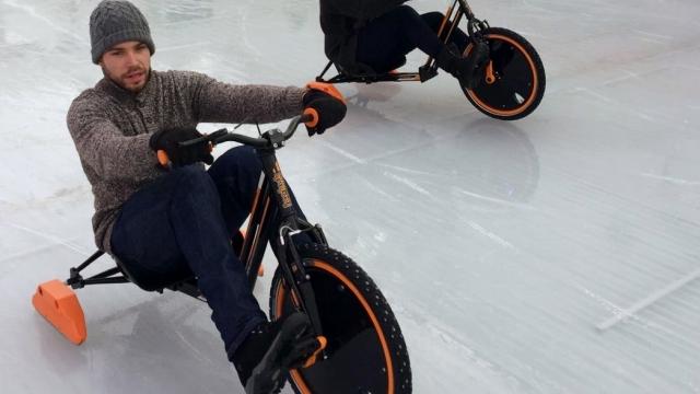 Icebyk Drift Trike im Elbe Ice Stadion in Brokdorf